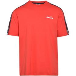 vaatteet Miehet Lyhythihainen t-paita Diadora 502176429 Punainen