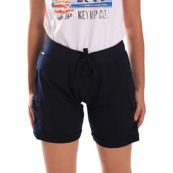 vaatteet Naiset Shortsit / Bermuda-shortsit Key Up 5G75F 0001 Sininen
