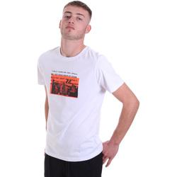 vaatteet Miehet Lyhythihainen t-paita Antony Morato MMKS01880 FA100144 Valkoinen