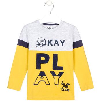 vaatteet Lapset T-paidat pitkillä hihoilla Losan 025-1012AL Keltainen