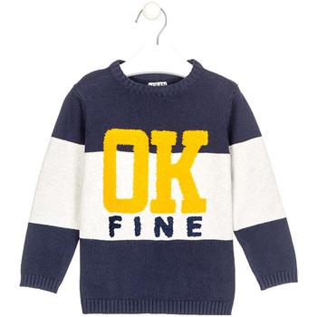 vaatteet Pojat Neulepusero Losan 025-5003AL Sininen