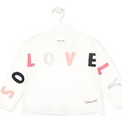 vaatteet Tytöt T-paidat pitkillä hihoilla Losan 026-1012AL Valkoinen
