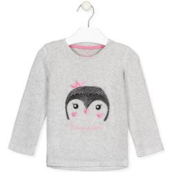 vaatteet Tytöt T-paidat pitkillä hihoilla Losan 026-1029AL Harmaa