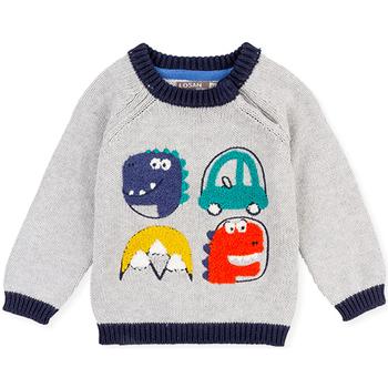 vaatteet Lapset Neulepusero Losan 027-5004AL Harmaa