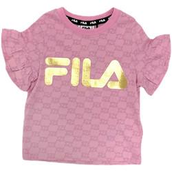 vaatteet Tytöt Lyhythihainen t-paita Fila 688038 Vaaleanpunainen