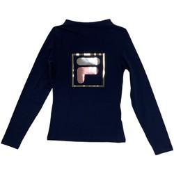 vaatteet Lapset T-paidat pitkillä hihoilla Fila 688102 Sininen