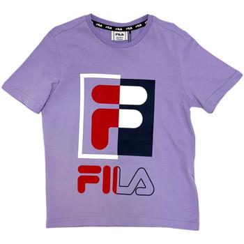 vaatteet Lapset Lyhythihainen t-paita Fila 688149 Vaaleanpunainen