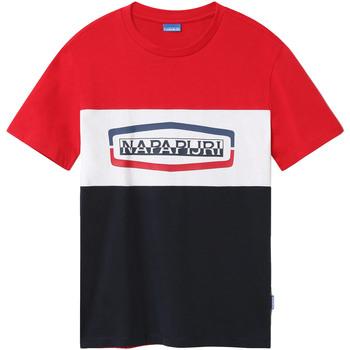 vaatteet Miehet Lyhythihainen t-paita Napapijri NP0A4FDH Sininen