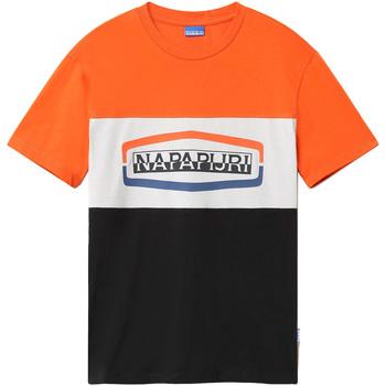 vaatteet Miehet Lyhythihainen t-paita Napapijri NP0A4FDH Musta