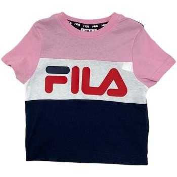 vaatteet Lapset Lyhythihainen t-paita Fila 688023 Vaaleanpunainen