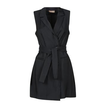 vaatteet Naiset Lyhyt mekko Moony Mood OLALA Musta
