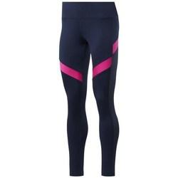 vaatteet Naiset Legginsit Reebok Sport Wor Mesh Tight Tummansininen, Vaaleanpunaiset