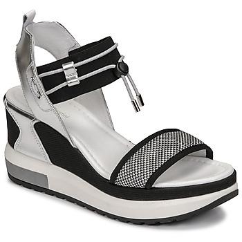 kengät Naiset Sandaalit ja avokkaat NeroGiardini CAMINO Musta / Hopea