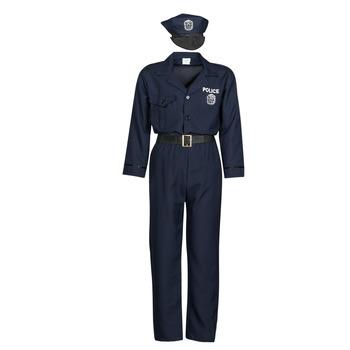 vaatteet Miehet Naamiaisasut Fun Costumes COSTUME ADULTE OFFICIER DE POLICE Monivärinen