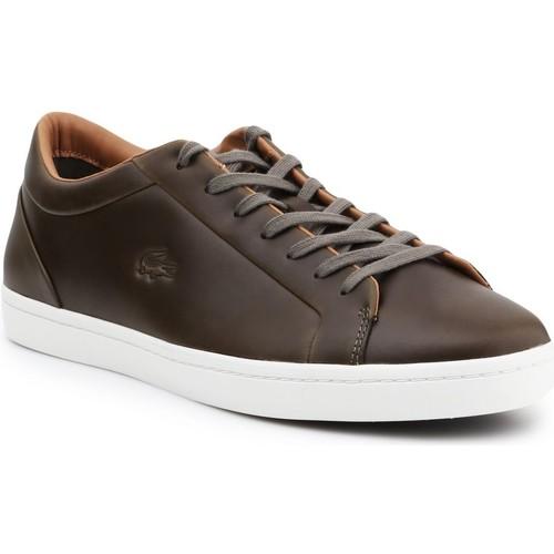 kengät Miehet Matalavartiset tennarit Lacoste Straightset 316 3 CAM 7-32CAM00971X5 brown