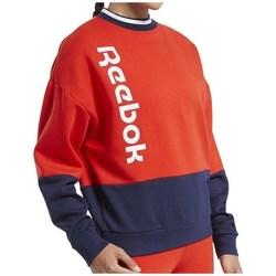 vaatteet Naiset Svetari Reebok Sport TE Linear Logo Crew Punainen, Tummansininen