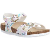 kengät Lapset Sandaalit ja avokkaat Birkenstock RIO CONFETTI WHITE CAL S Bianco