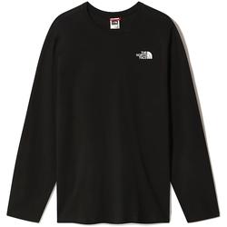 vaatteet Miehet T-paidat pitkillä hihoilla The North Face NF0A493L Musta