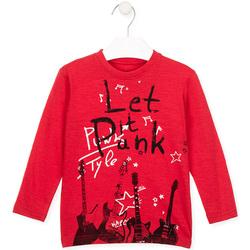 vaatteet Lapset T-paidat pitkillä hihoilla Losan 026-1001AL Punainen