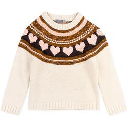 vaatteet Tytöt Neulepusero Losan 026-5001AL Valkoinen