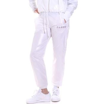 vaatteet Naiset Verryttelyhousut La Carrie 092M-TP-421 Valkoinen