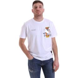 vaatteet Miehet Lyhythihainen t-paita Disclaimer 21EDS50512 Valkoinen