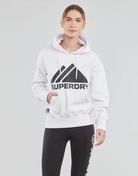 vaatteet Naiset Svetari Superdry MOUNTAIN SPORT MONO HOOD Valkoinen