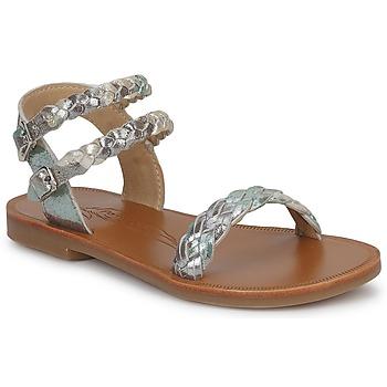 kengät Tytöt Sandaalit ja avokkaat Pom d'Api KOH BI WOVEN Camouflage / Glitter