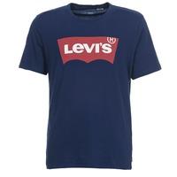 vaatteet Miehet Lyhythihainen t-paita Levi's GRAPHIC SET IN Laivastonsininen