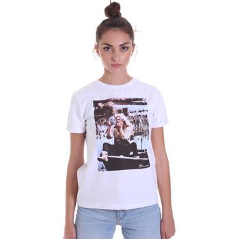 vaatteet Naiset Lyhythihainen t-paita Fracomina F120W03006J00139 Valkoinen