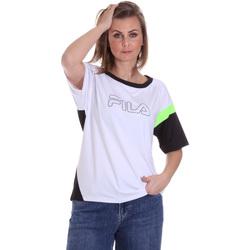 vaatteet Naiset Lyhythihainen t-paita Fila 683145 Valkoinen
