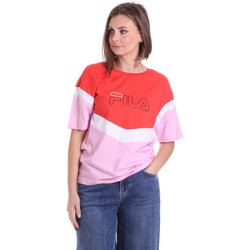 vaatteet Naiset Lyhythihainen t-paita Fila 683162 Punainen