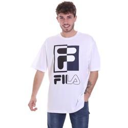 vaatteet Miehet Lyhythihainen t-paita Fila 687475 Valkoinen