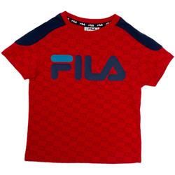 vaatteet Lapset Lyhythihainen t-paita Fila 688077 Punainen