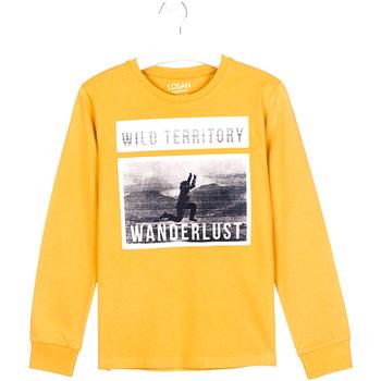 vaatteet Lapset T-paidat pitkillä hihoilla Losan 023-1027AL Keltainen