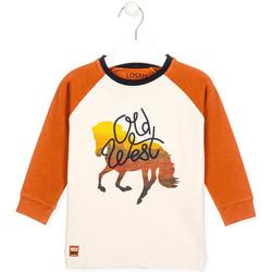vaatteet Lapset T-paidat & Poolot Losan 025-1018AL Valkoinen