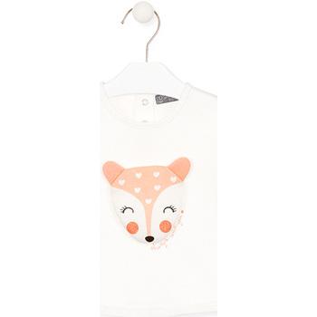 vaatteet Lapset T-paidat pitkillä hihoilla Losan 028-1004AL Valkoinen