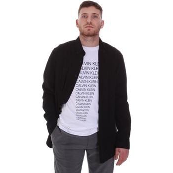 vaatteet Miehet Pitkähihainen paitapusero Calvin Klein Jeans K10K105993 Musta