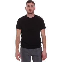 vaatteet Miehet Lyhythihainen t-paita Sseinse MI1692SS Musta