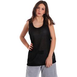 vaatteet Naiset Hihattomat paidat / Hihattomat t-paidat Converse 10007415 Musta