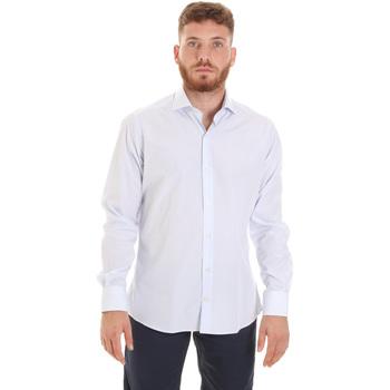 vaatteet Miehet Pitkähihainen paitapusero Les Copains 20P.922 P3196SL Valkoinen