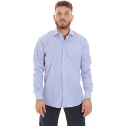 vaatteet Miehet Pitkähihainen paitapusero Les Copains 20P.623 P3196SL Sininen