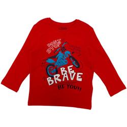 vaatteet Lapset T-paidat pitkillä hihoilla Losan 025-1201AL Punainen