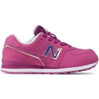 kengät Lapset Matalavartiset tennarit New Balance NBGC574MTP Vaaleanpunainen
