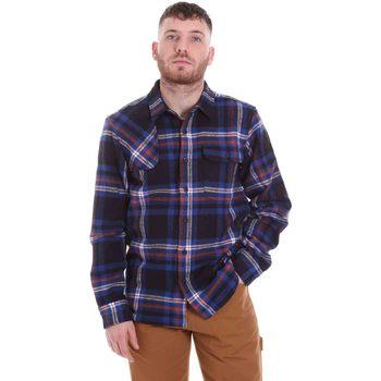 vaatteet Miehet Pitkähihainen paitapusero Dickies DK520352EL01 Sininen