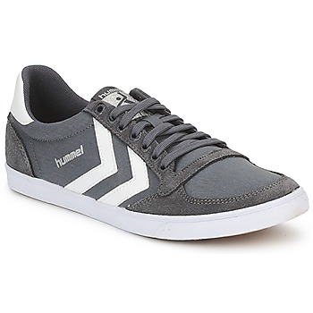 kengät Miehet Matalavartiset tennarit Hummel TEN STAR LOW CANVAS Grey / White