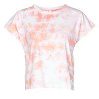 vaatteet Naiset Lyhythihainen t-paita Yurban ONILA Valkoinen / Vaaleanpunainen