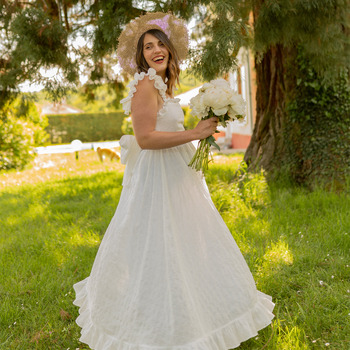 vaatteet Naiset Pitkä mekko Céleste AURORE Valkoinen