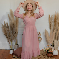 vaatteet Naiset Pitkä mekko Céleste COLOMBE Vaaleanpunainen