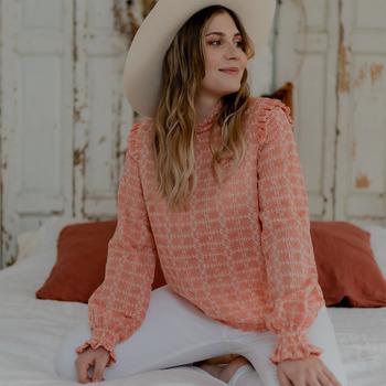vaatteet Naiset Topit / Puserot Céleste HIRONDELLE Vaaleanpunainen